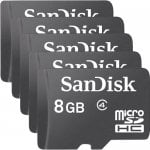 SanDisk 8GB Micro SDHC Class 4 Memory Card - FIVE PACK - GizzmoHeaven - £12.99