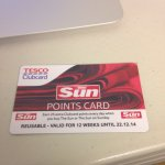 25 Clubcard points when you buy The Sun newspaper (Valid for 12 weeks)