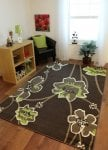 Cheap Chocolate Brown and Green Modern Floral Pattern Rug 100cmx150cm £10.94 delivered from Amazon (Dispatched from and sold by The Rug House Ltd)