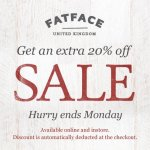 Extra 20% off sale items at Fat Face this weekend