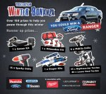 Win a Ford Ranger and other Prizes in the Winter Bonanza @ Tool Station