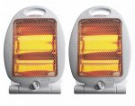 2 x Quartz Heater 400W / 800W Electric Portable Halogen Heaters delivered by price-drop-outlet ebay £9.99