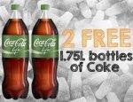2 FREE BOTTLES OF COKE LIFE @ TESCO