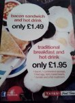 5 item English Breakfast AND a hot drink £1.95 @ Yates's