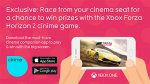 win prizes with the Xbox Forza Horizon 2 cinime game! @ odeon