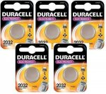 5 x Duracell 2032 Button Cell Batteries £3.37 & FREE UK delivery @ Amazon sold by Wholesaleprice-UK