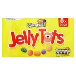 Jelly tots 8 pack 75p Starburst Favereds single pack 25p Skittles single pack 20p Cadburys Ritz & Lu single Pack 25p@ Asda Instore