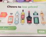 Asda booze / spirits 70cl bottles £11 (Disaronno Amaretto / Russian standard vodka / Bacardi white / oakheart rum / Cointreau / Grants whiskey / Tia Maria Gordon's Gin / Captain Morgan original spiced gold rum)