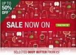 The Body Shop Online Sale items from £1 up to 50% off plus extra 10% off for LYB Members