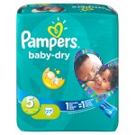 Pampers Baby Dry Size 5 Junior Monthly Pack - 144 Nappies £17.12 (12p each) @ Amazon