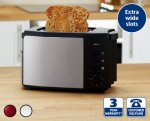 Stainless Steel Toaster - Aldi - From Thursday 23rd October - £9.99
