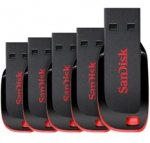 SanDisk 8GB Cruzer Blade USB Flash Drive - FIVE PACK £16.49 Gizzmoheaven