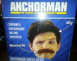 "Ron Burgundy Anchorman ""Stay Classy San Diego Dress-up Kit"", Wig & Moustache (Official Licence) £1 From Poundland"