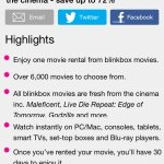 Blinkbox movie rental for 99p from Wowcher