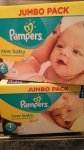 Pampers New Baby Nappies JUMBO PACK 74 was £11 now only £5.50 instore @ Sainsbury's