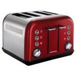 Morphy Richards 4 Slice Toaster - Red or White - tesco online - £22.50