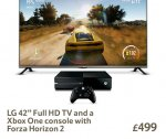LG 42 Inch Full HD TV (inc 5 Yr Guarantee) + Xbox One with Forza Horizon 2 = £499 @ Tesco Direct & possibly instore (Saving £149)