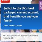 Nationwide flex plus award winning current account £80 cash back!