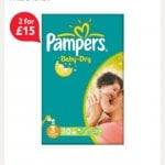 2 for £15 offer on pampers jumbo packs has been extended at tesco