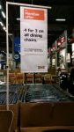 4 for 3 on all dining chairs @ IKEA from 03/11/14  till 09/11/14
