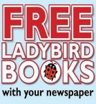 FREE Ladybird books with purchase of local newspaper