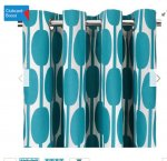 Unlined teal eyelet curtains in Teal 168cm x 229cm £8.50 @ Tesco Direct free C&C