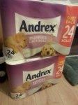 Andrex puppies on roll 24 pack £5.75 instore @ Tesco