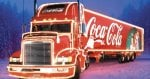 See the Coke Christmas Truck With Free Photo & Coke
