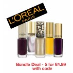 L'Oreal Color Riche Nail Polish Bundle 5 x 5ml - £7.98 delivered - with code @ Half Price Perfumes