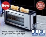 Glass Toaster for £29.99 at Aldi from Thursday 13th November with 3 year warranty
