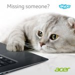 Acer and Skype are GIVING you one month's UNLIMITED Skype calls Face Book