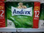Andrex Aloe Vera 12 rolls only £3.99 @ Home Bargains