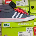 Adidas bbpark mid high top trainers half price in deichman £24.99