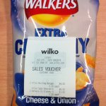 Walkers extra crunchy crisps 150g 50p at Wilkinsons