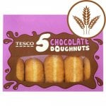 Doughnuts (5 Pack) now 50p at Tesco (includes chocolate, apple, custard, jam, large ring)