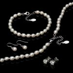 John Greed Silver & Freshwater Pearl Set with Crystal Stud Earrings - £14.45