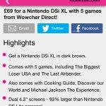 Nintendo dsi XL & 5 games £69 &£4.99 postage at Wowcher