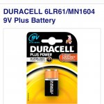 DURACELL 9V Plus Battery Was £3.99 Now 97p @ Currys. Free click and collect