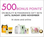 500 Bonus points(worth £5) with House of Fraser - Beauty & Fragrance gifts purchase from £4