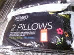 Sleep John Cotton 2 Pillows £1.99 at ALDi goodmayes