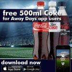 FREE 500ml BOTTLE OF COKE