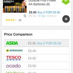 Duracell batteries £5.50 or 2 for £6 @ Asda