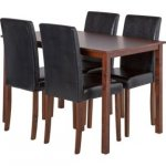 Hampton 120cm Walnut Stain Table and 4 Black Midback Chairs, £159.99 Delivered Using Code @ Argos, More Options See Below