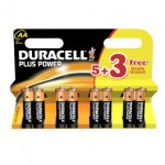 Duracell Plus Power AA Batteries - 5 + 3 Free delivered £2.99 at Ebuyer