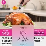 VonShef digital meat thermometer £4.99 plus £2.99 delivery @ Domu / Wowcher