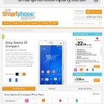 Sony Xperia z3 compact SIMFREE White black & orange - £334.99 @ smartphonecompany
