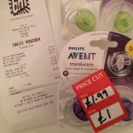 Philips Avent Soothers 0-6m £1 INSTORE at B&M