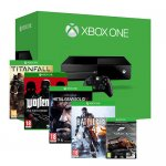 XBOX One (No Kinect) + 5 Games (physical copies except Forza), Titanfall, Wolfenstein, Forza 5, Battlefield 4, Metal Gear Solid V Ground Zeroes, Free next day delivery @ ShopTo eBay - £349.99