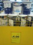 Dulux 5 litre white matt emulsion £4 @ Tesco