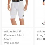 Adidas tech fit climacool shorts (under shorts baselAyer for football) £9 at JD sports click and collect (£25 RRP)